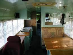 School Bus Conversion Camper RV Interior