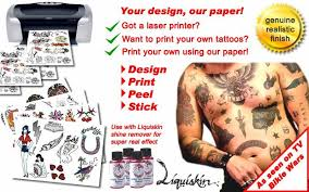 Temporary Tattoos Australia For DIY Tattoo Paper Suitable Inkjet And Laser Printers