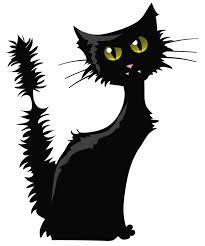 Black Cat PNG Clipart Image