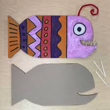 Art And Craft Ideas With Newspaper Step By Fresh This Angler Fish Project I Found Is Just Too Clever Its