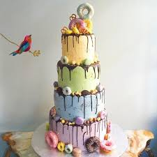 Colourful Fun Fair Bespoke Wedding Cake