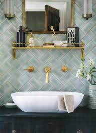 winchester mint brick subway tiles are shown here in a