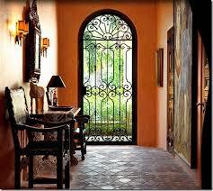 wrought iron door mediterranean design rather than carpeting