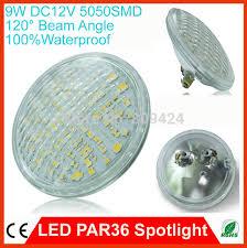 9w led par36 spotlight l smd5050 epistar chip warm cool white