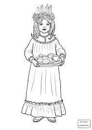 Countries Cultures Saint Lucia Day Celebration Sweden Coloring Pages