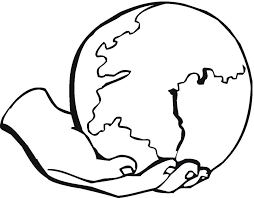 Cartoon Clipart Of A Black And White Stressed Earth Globe Vector
