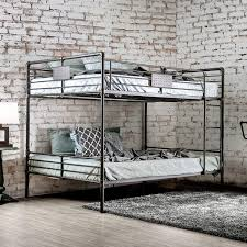 American Freight Bunk Beds by Furniture Of America Olga I Queen Queen Bunk Bed In Antique Black