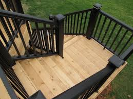 Horizontal Deck Railing Ideas by Deck How To Build Ground Level Deck Plans For All Your Home And