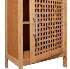 bambou badezimmerschrank aus bambus 2 ebenen geschlossen