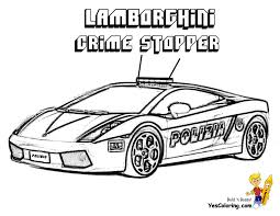 Rich Relentless Lamborghini Cars Coloring And Police Car Pages