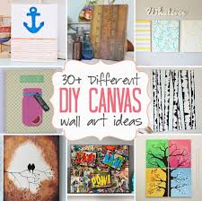 DIY Canvas Wall Art Ideas 30 Tutorials