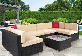 Sams Club Patio Furniture by Furniture 7pc Outdoor Patio Garden Wicker Furniture Rattan Sofa