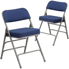 100 Blue Plastic Folding Chairs 2 Pk HERCULES Series Premium Curved Triple Braced Double Hinged