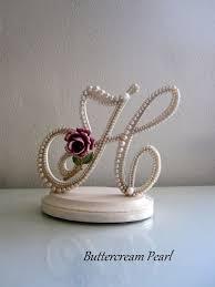 Cake Topper Weddings Custom W Pearl Burgundy Rhinestones Rustic Chic Fall Barn Wedding Bride Gift