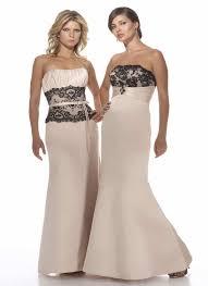 bridesmaid lace dresses above u003e u003e black and champagne lace