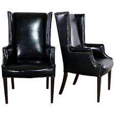 Black Naugahyde Art Deco Hollywood Regency Wingback Chairs ... Harlow Velvet Wingback Ding Chair With Nailheads Set Of 2 Iconic Home Shira Faux Linen Belgravia Wing Back Rattan With Cushion Wingback Ding Chairs Genevaolszewskico Host 300350126 Sofas And Sectionals Amazoncom Upholstered Chairs Mid Century Nailhead For Best Fniture Fnitures Fill Your Room Pretty Parsons Cheap Decor Gallery