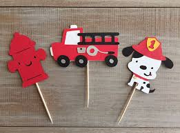 100 Fire Truck Cupcake Toppers Pin By Julie Forbes On FIREMAN Pinterest Truck Cupcakes
