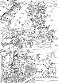 Birth Of Jesus Coloring Page 19 The
