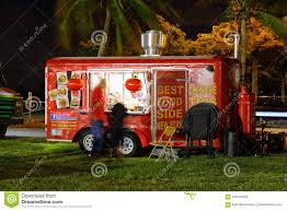 100 Food Trucks Miami Beach Night Image Of In A Park 3 Editorial Photography Image