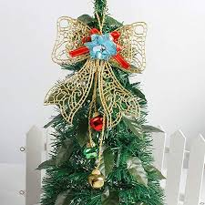 Dkhsy Christmas Tree Topper Small Angel Bow Xmas Trees Ornament Home Party Decorations Gift