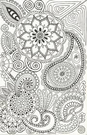 Henna Inspired Doodle Of Paisleys Flowers Swirls And Such Abstract Zentangle Coloring Pages Colouring Adult Detailed Advanced Printable Kleuren