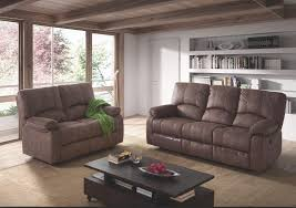 canapé marron ensemble canapé de relaxation 3 places électrique et 2 places fixe