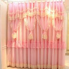 Pink And Purple Ruffle Curtains by Sweet Pink Ruffle Curtains For Young Girls U0027 Room Naindien