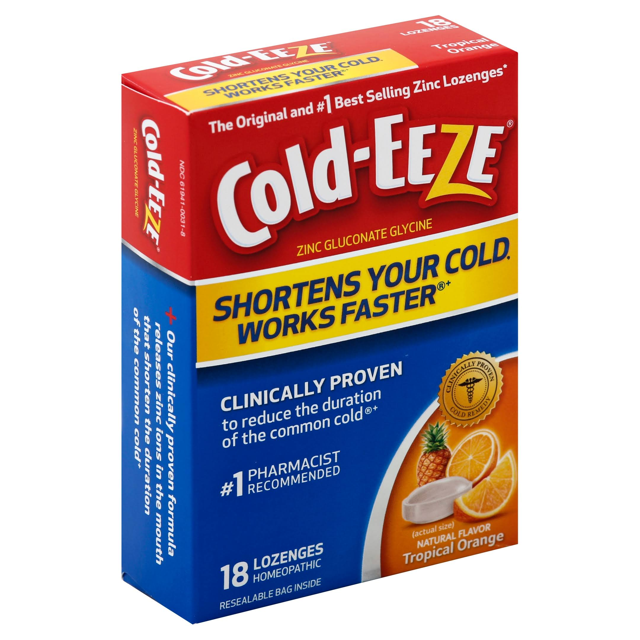 Cold Eeze Cold Remedy Lozenges - Tropical Orange, 18ct