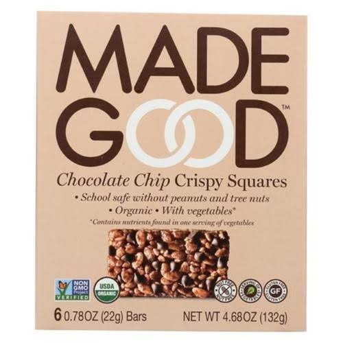 Made Good 2182228 0.78 oz Vanilla Crispy Squares Chocolate Chips, Case of 12