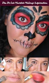 Easy Sugar Skull Day Of by Easy Dia De Los Muertos Makeup Inspiration Painted Ladies