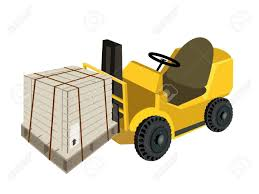 Powered Industrial Forklift, Fork Heavy Machine, Fork Truck Or ...