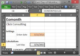 Last Day For 1 Any by Compute The Last Day Of The Month In Excel Excel University