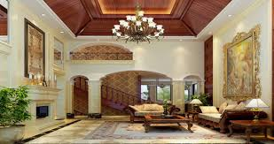Living Room With Fireplace by Luxurious Elegant Living Room With Fireplace And Staircase Spain