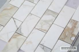 italian calacatta gold marble wall tiles beveled subway tile