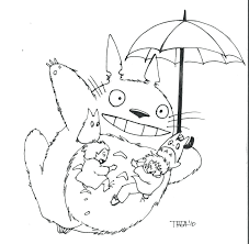 My Neighbor Totoro Coloring Book Pages Colouring Page Drawing Pdf