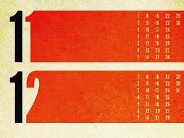 Simon Foster Nov Dec From A Calendar He Designed The Was An Experiment In Shape Form Texture And Typography
