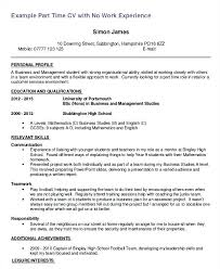 Resume Templates Objective Student Job Sample First Part Time Summer Examples Free Example