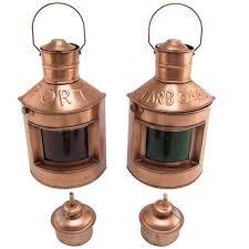 Antique Oil Lamps Ebay by Port Starboard Lamp Set Of 2 Oil Lamps Lights Ship Lantern Ships