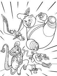 Kung Fu Panda Characters Coloring Pages 900x