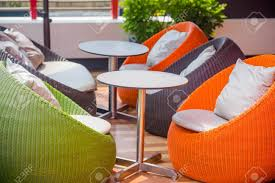 Colourful Outdoor Wicker Chairs With Cushions Stock Photo, Picture ... Red Barrel Studio Dierdre Outdoor Wicker Swivel Club Patio Chair Cosco Malmo 4piece Brown Resin Cversation Set With Crosley Fniture St Augustine 3 Piece Seating Hampton Bay Amusing Chairs Cushions Pcs Pe Rattan Cushion Table Garden Steel Outdoor Seat Cushions For Your Riviera 4 Piece Matt4 Jaetees Spring Haven Allweather Amazoncom Festnight Ding Of 2