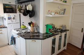 ApartmentSmall Apartment Kitchen Decor With L Shaped Design And Open Shelves Idea