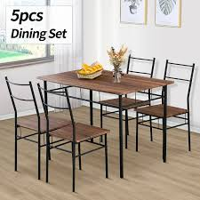 5 Piece Metal Dining Table Furniture Set 4 Chairs Wood Top Dining Room Brown Chair 34 Tremendous Metal And Wood Ding Chairs Best Discount A8450 European Style Chair Modern Ward Ding Chair Contemporary Industrial Transitional Midcentury Dering Hall Anders Dc 007 Art Deco Amazoncom Oak Street Manufacturing Sl2130blk Frame Tig Barrel Copine In American White Vacuum Plating Champagne Gold Stainless Steel Mcssd9187oakgold Sanctum Round Armrest Joanne Ding Solid Table Set 4 Piece Ji Free Installation Basic Trainee Folding Black Designer Chairconference Chairexhibition Chairpantry