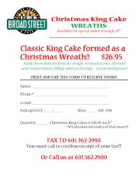 Christmas King Cake order form