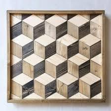 Geometric Hexagon Wood Wall Art By CaisleyCo