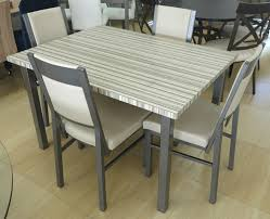 Contemporary Dinette Sets Glass Kitchen Tables Dinettes Wood Dining Room Table