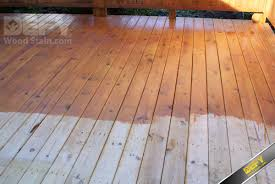 Restaining A Deck Do It Yourself by Pressure Treated Deck Partially Stained With Defy Extreme Wood