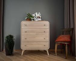 holz kommode in geweißte eiche eiche schlafzimmer lagerung mit 4 schubladen deco kommode benutzerdefinierte massivholz schlafzimmer