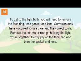 how do you change a pool light bulb