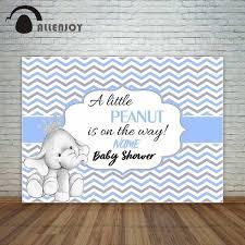 Allenjoy Baby Shower Blue Chevron Wave Pattern With Baby