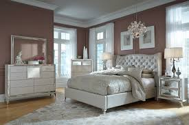 Raymour And Flanigan Tufted Headboard by Aico Furniture Hollywood Loft Frost Bedroom Set By Michael Amini